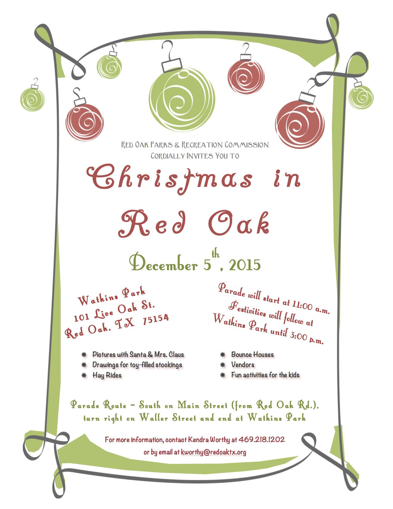 Christmas In Red Oak