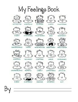 Use this feelings book for students to write about the
