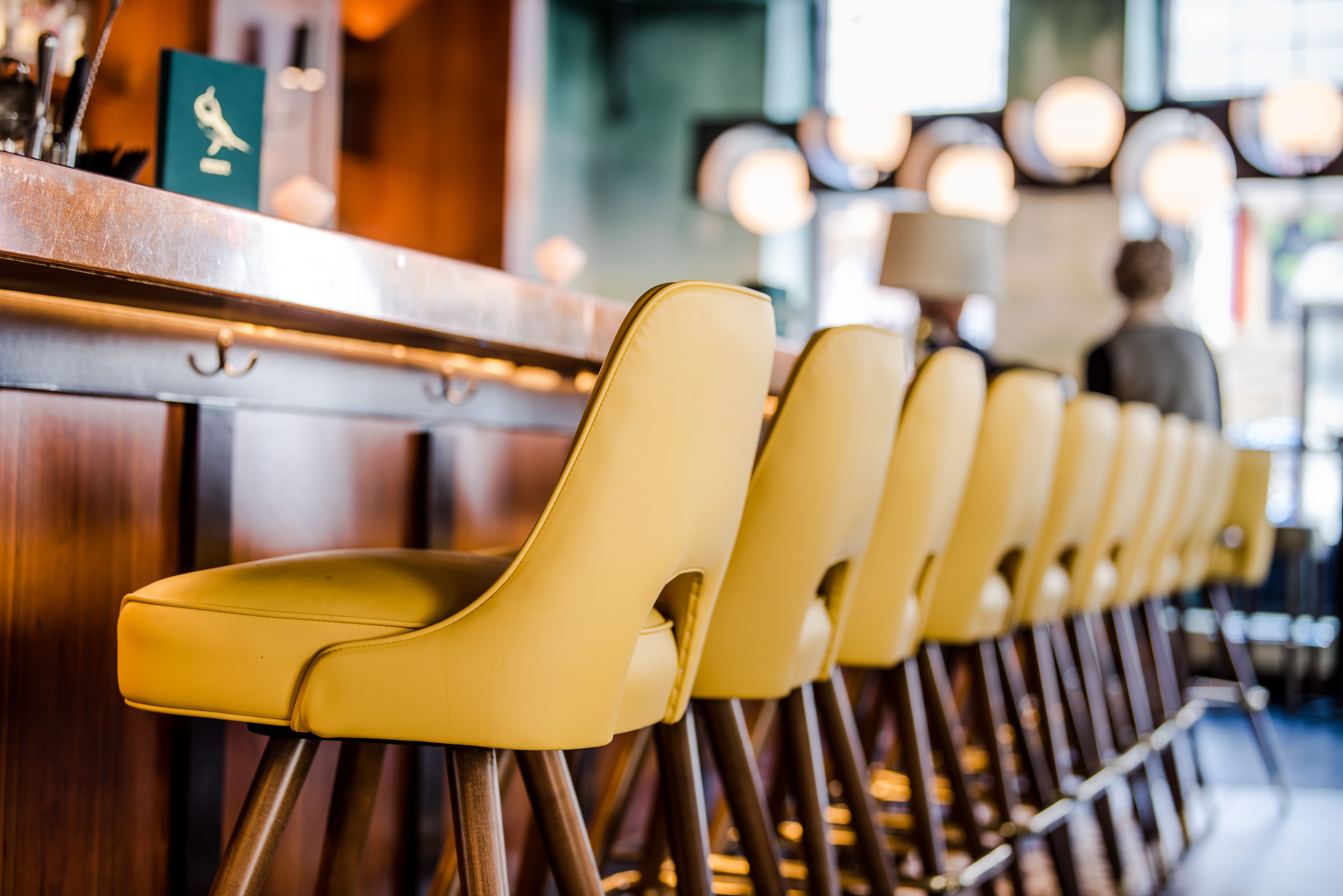 Copper Bar Top Mcm Gold Bar Stool In The Bar At Mercy Bar And