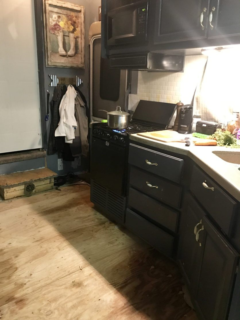Rv Flooring How To Install Step By Step Countertop Remodel
