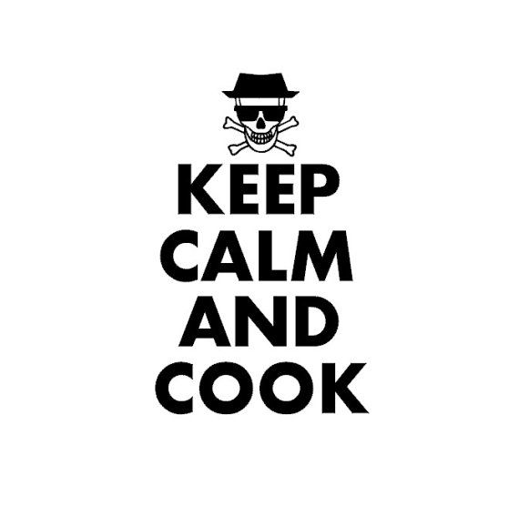 Keep Calm and Cook B T-Shirt Let/'s Cuisinier Chef Breaking Bad Heisenberg Jesse Fun