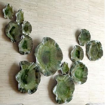 Global Views Free Formed Lily Plate Wall Decor in Green & Global Views Free Formed Lily Plate Wall Decor in Green ...