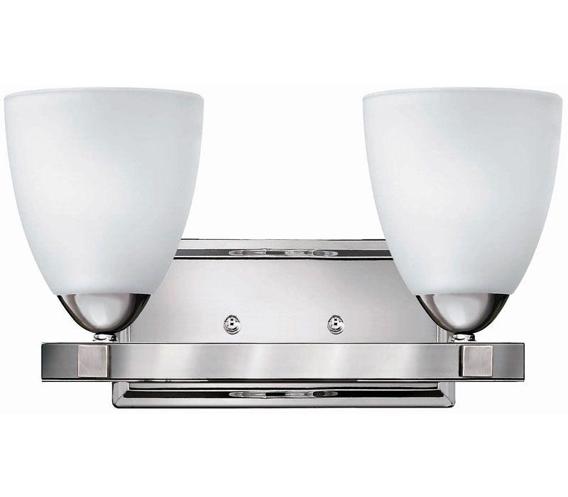 Hinkley Pinnacle Glass Wall Vanity Lighting. 5252CM www.delmarfans.com #DelMarFans #Lighting #Hinkley #Modern #Glass #Vanity