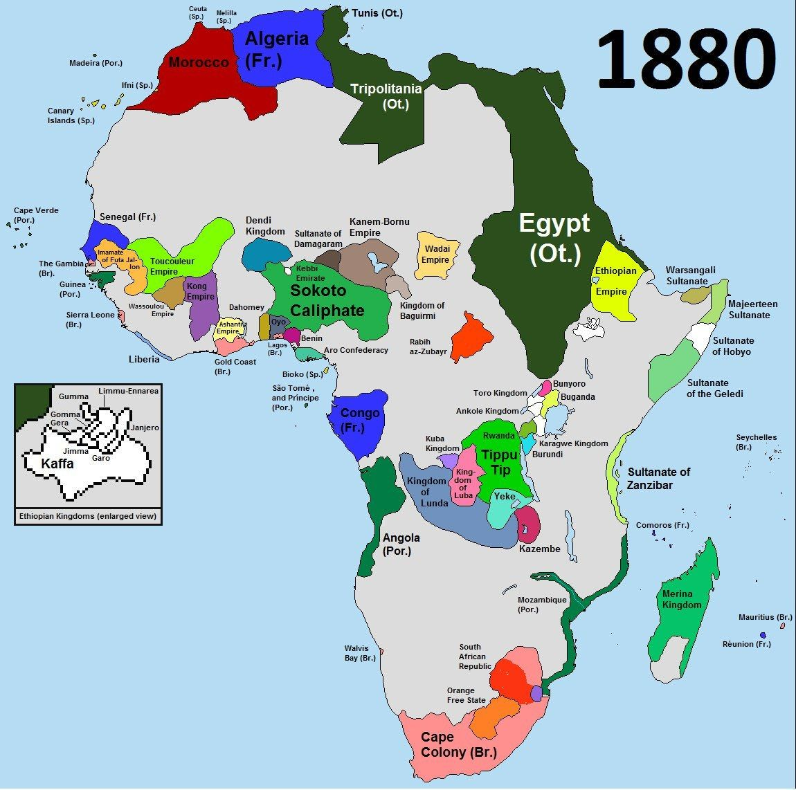 Africa 1880   before the Scramble for Africa | mapmania | Africa