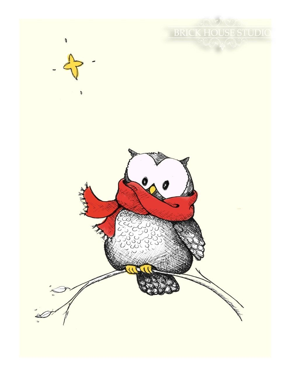 the owl and the star from brickhousestudio on etsy cute owls