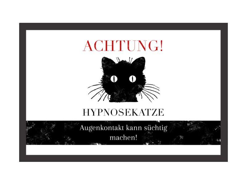 Fußmatte Türmatte HYPNOSEKATZE Fußabtreter Katze