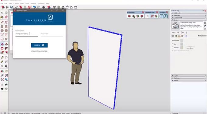Aluvision For Sketchup Is The Newest Extension Available In Extension Warehouse This Sketchup Extension Can Be Applied With Ske How To Apply Plugins Lettering