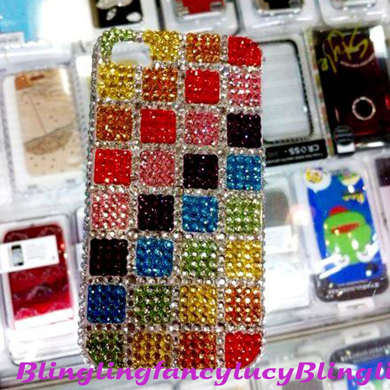iphone 5 case, iphone 5 cover, bling iphone 5 case unique iphone 5 case skin, rhinestone iphone 5 case, women gadget  case. $18.98, via Etsy.