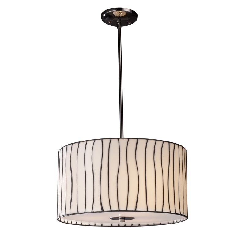 Landmark lighting lineas pendant in black chrome bed bath beyond