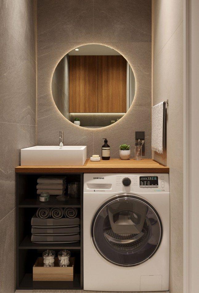 Un appartement entre bois et pierre - PLANETE DECO a homes world #tinyhousebathroom