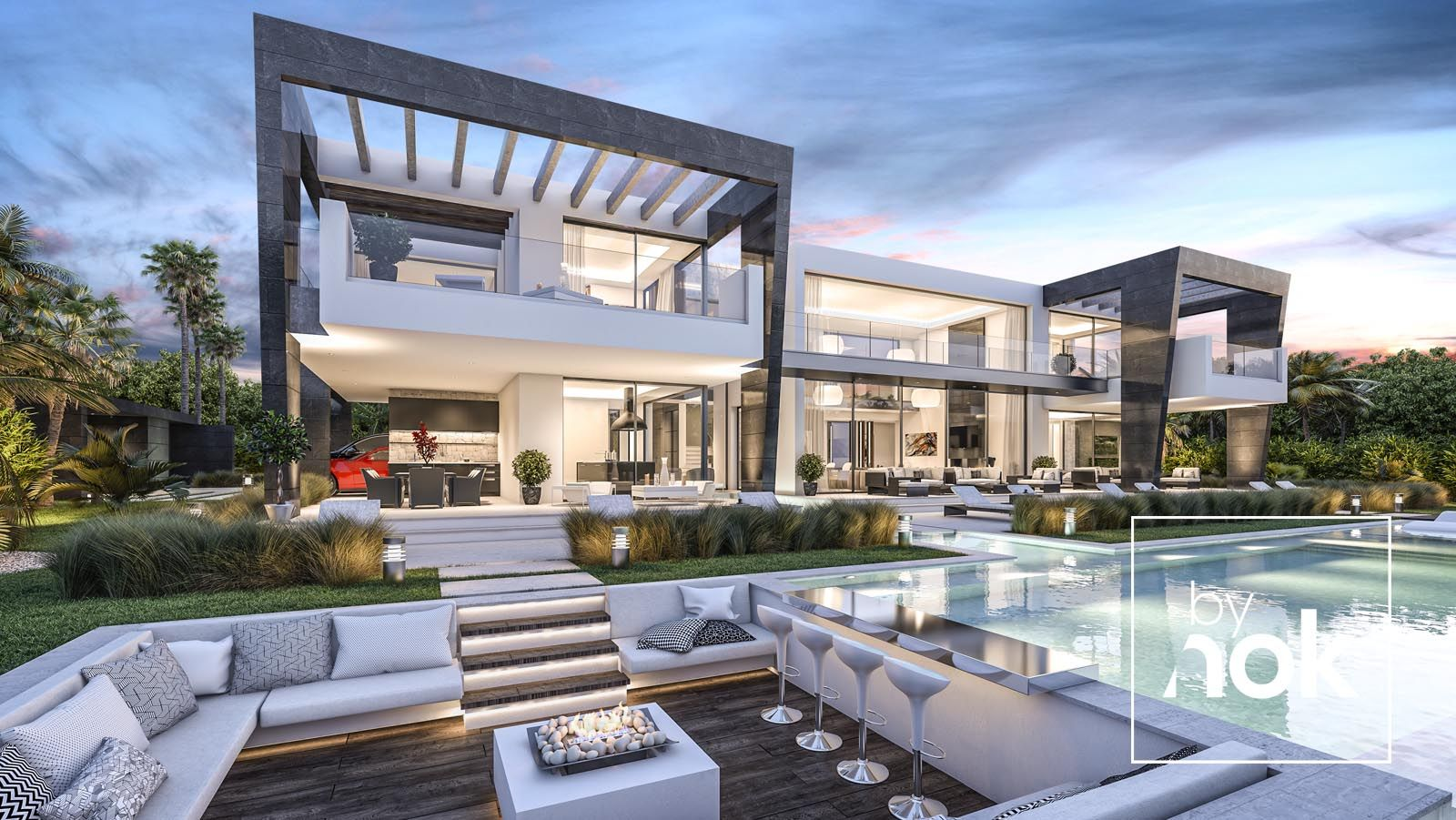 Architecture Construction Modern Villa In Aloha Marbella
