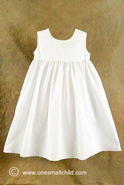 Day Length Cotton Slip Cotton Slip Length Cotton Kids Dress