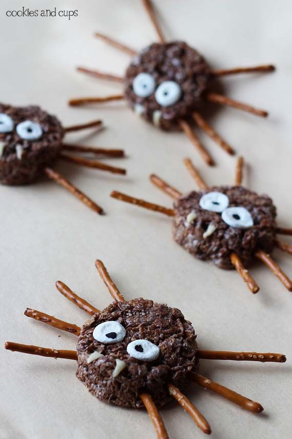 spider and owl krispie treats so easy and cute