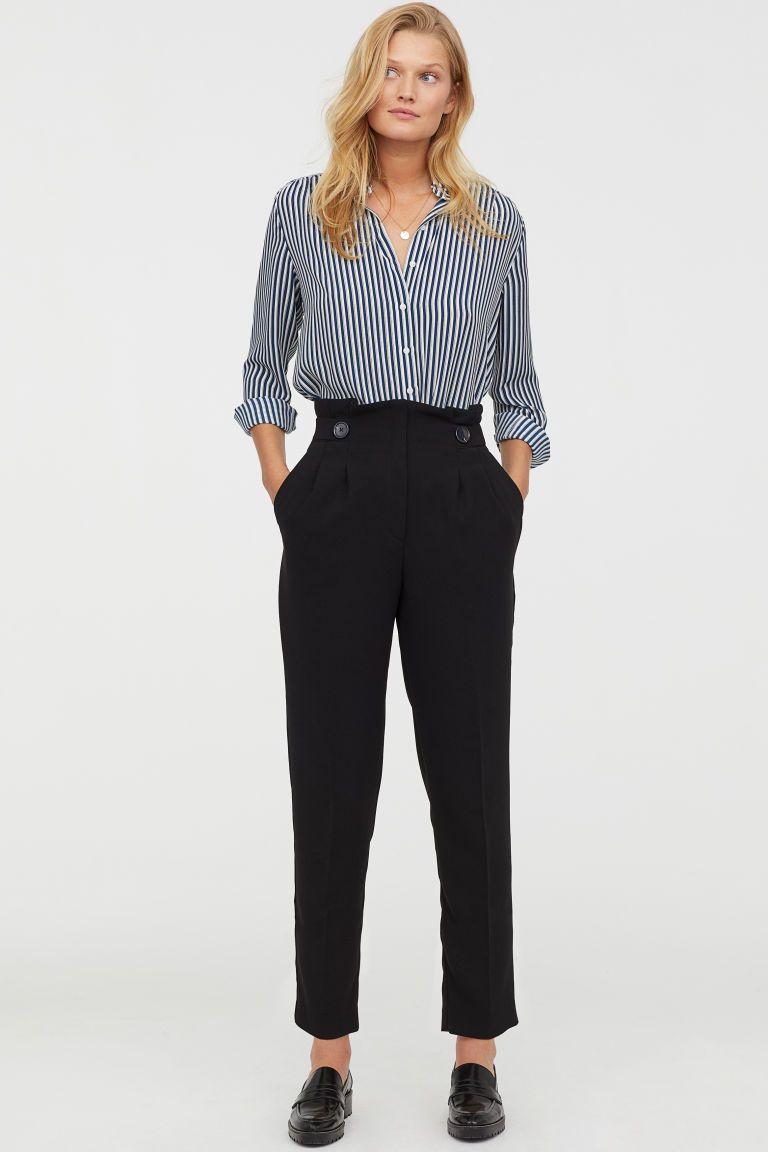 Fonkelnieuw Paperbagbroek (met afbeeldingen) | Outfits voor werk, Zakelijke HR-71