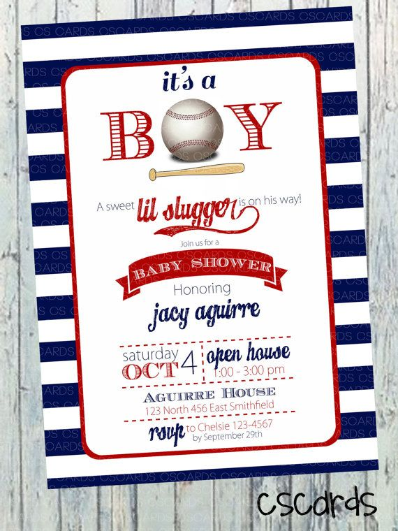 cute lil slugger baseball boy baby shower invitation by cscardsshop