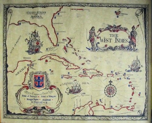 Old World West Indies Map Royal Caribbean Cruise Lines  This is a