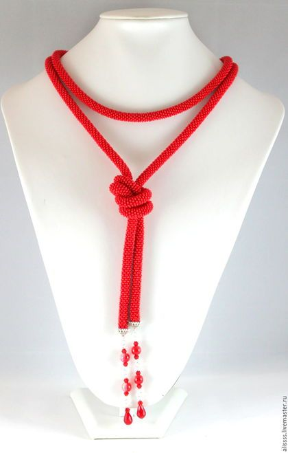 Buy or order Lariat 'Dragon Flame' in online shops on My Livemaster. Long and strong, relevant in the coming 2016 year, monkey, because she loves all the bright and defiant! Putting this lariat you nepovtorimy.Ego adorable and can be worn as a necklace, scarf, tie, belt, some Lariat woven into the hair. An essential accessory for every woman. Here are a few ways to wear a lariat: www.livemaster.ru/topic/1744957 And here is how to braid braids on Lariat: www.