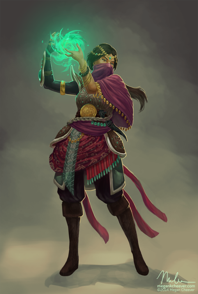 Female spell caster in pink   RPG - Fantasy Characters in