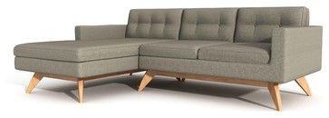Luna Sofa with Chaise - contemporary - sofas - True Modern