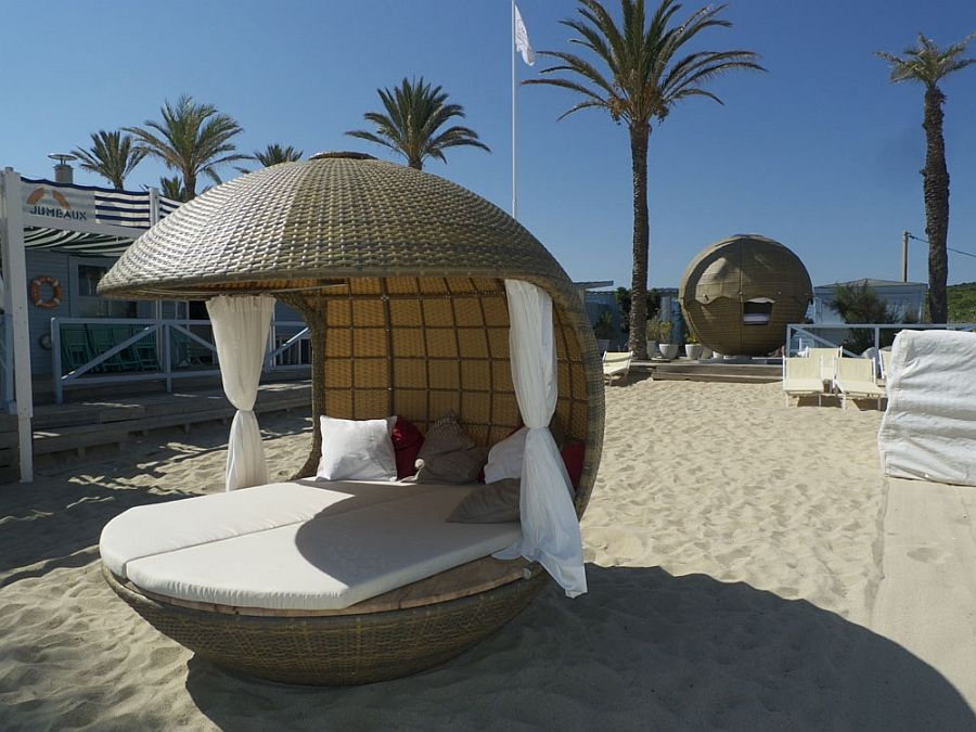 Beautiful Create Your Own Exclusive Cabana With The Comfy Cocoon Beach Daybed