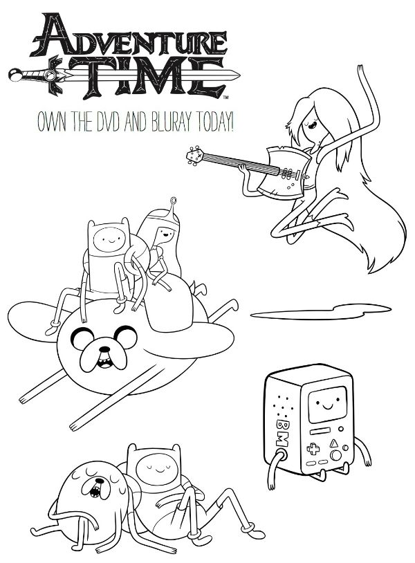 Adventure Time Printable Coloring Page | Printable Coloring Pages ...