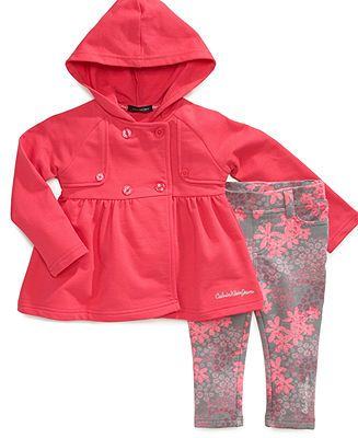 Calvin Klein Baby Set Baby Girls 2 Piece Jacket And Pants Kids Macy S Newborn Girl Outfits Toddler Girl Outfits Calvin Klein Baby