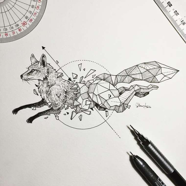 Sketchy Stories The Beautiful Geometric Animals By Kerby Rosanes