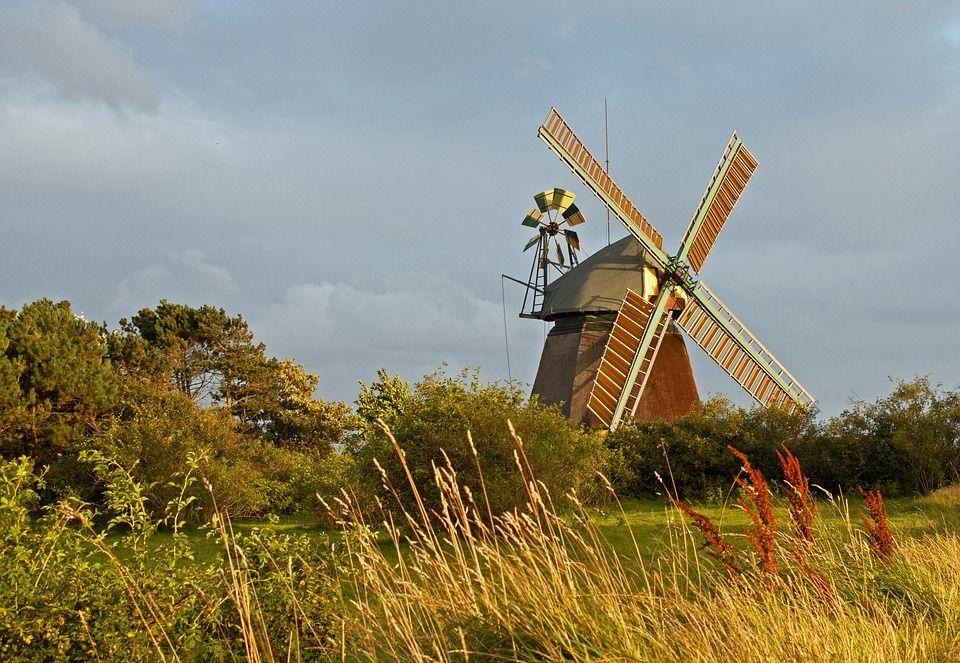 Free Image On Pixabay Windmill Amrum North Sea Island