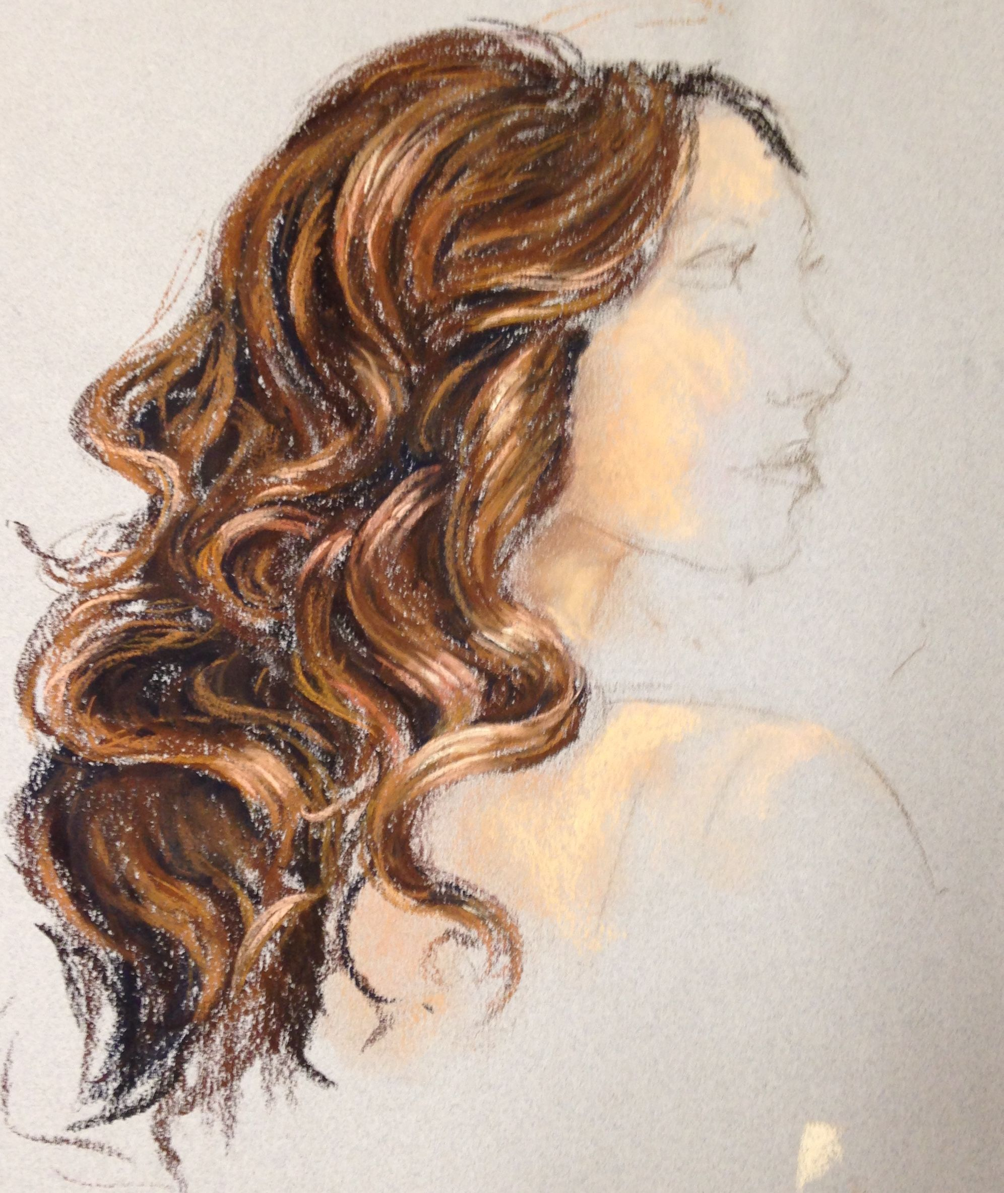 How To Draw Hair Using Watercolor Haare Zeichnen