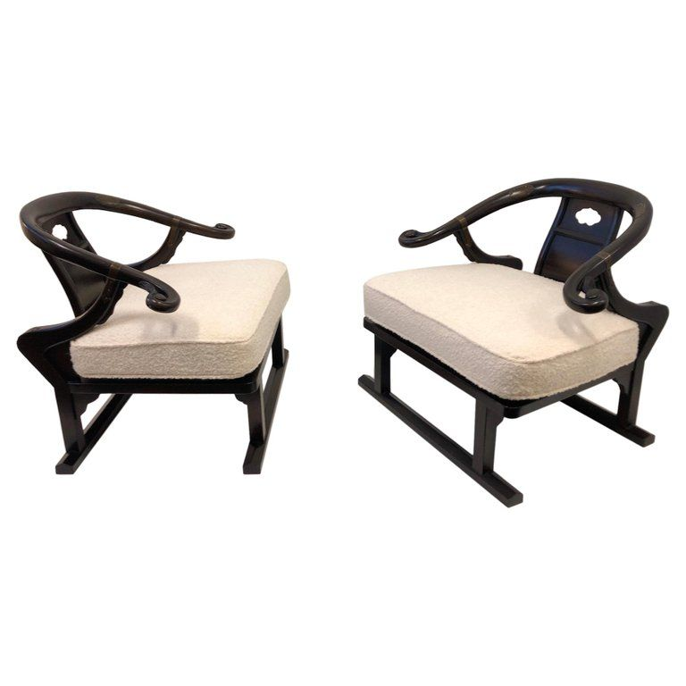 American Companies That Buys Furniture From Switzerland: Pair Of Baker Furniture Company Lounge Chairs