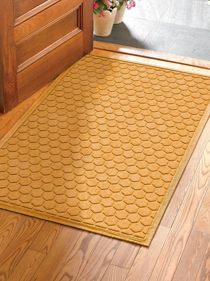 Honeycomb Water Glutton Oversized Double Door Welcome Mat 35 X 59 Welcome Mats Honeycomb Honeycomb Design