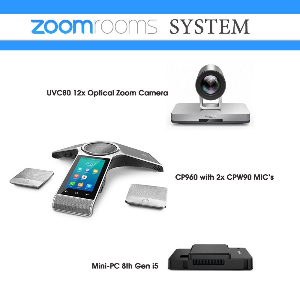 Yealink ZRCP960UVC80N8 Zoom room kit Room packages