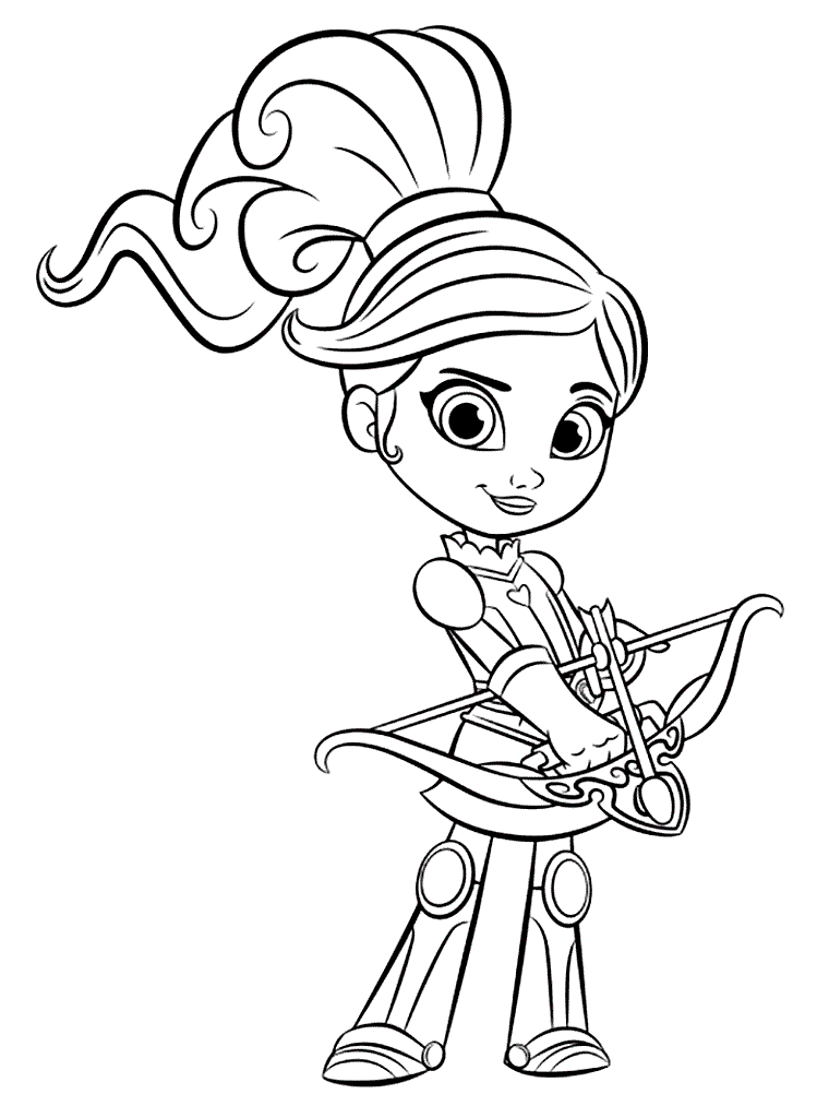 44+ Nella the princess knight coloring page free download