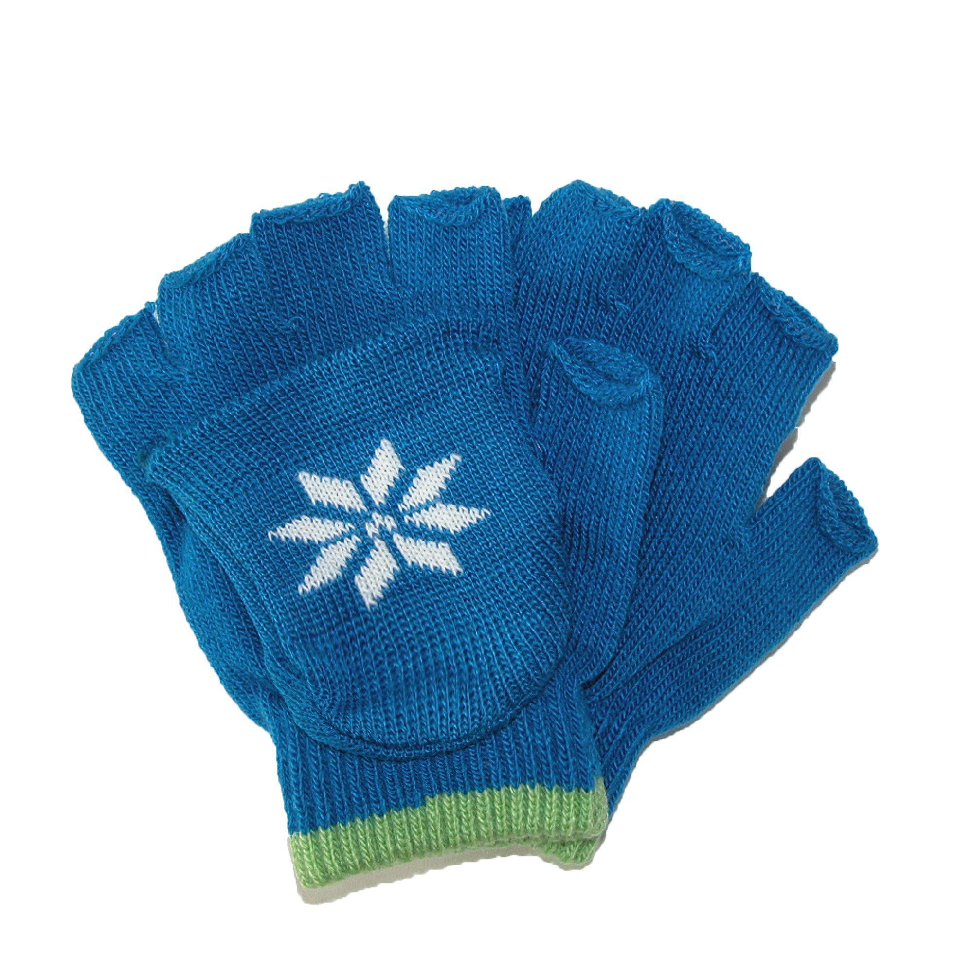 CTM Boys Stretch Convertible Fingerless Winter Gloves