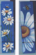 Daisies / Bee on clothespins pattern packet - Dorothy Whisenhunt