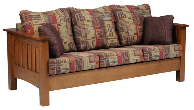 Amish Mount Hope Mission Sofa Wood Living Rooms Living Room