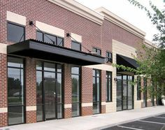 Brick Industrial Building Entrance Canopy Canopy Architecture Metal Awning Canopy Outdoor