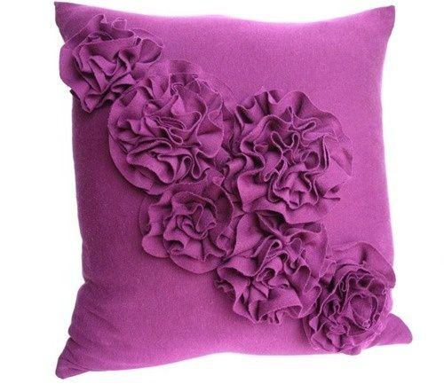t-shirt ruffle pillow :) by annmarie
