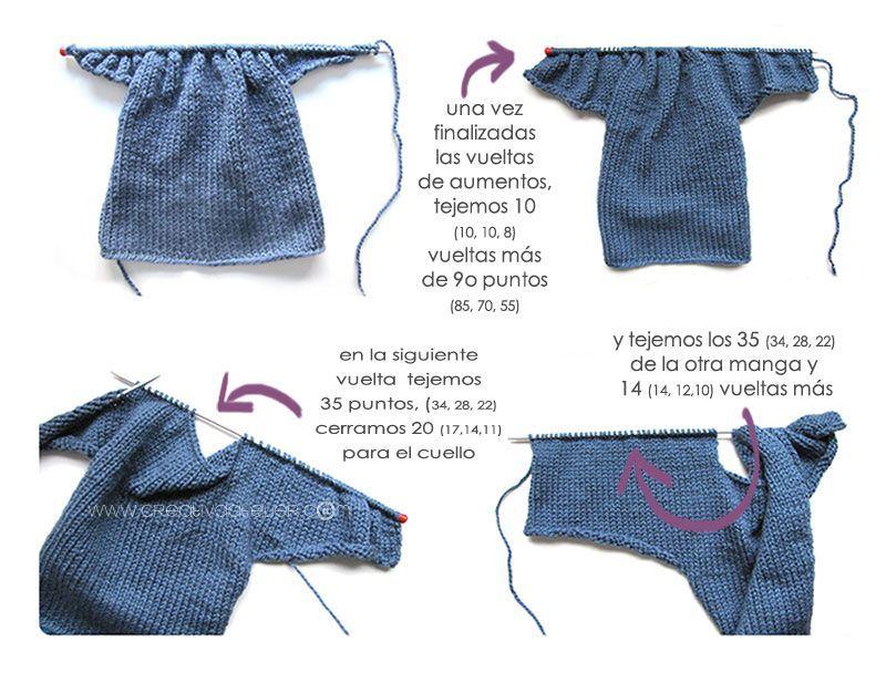 Cómo hacer una Chaqueta De Bebé a Dos Agujas -DIY-   detalles ...