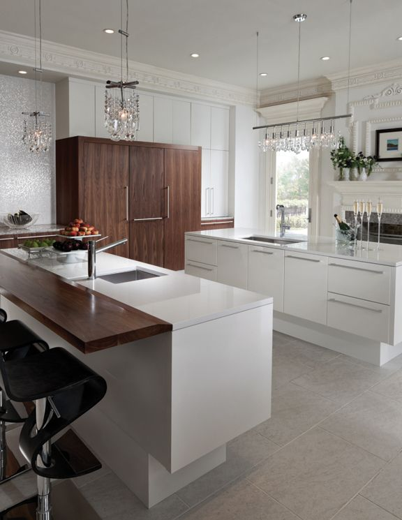 Contemporary Modern History Kitchen By Woodmode Shown In High Gloss Nord Contemporary Kitchen Cabinets Transitional Kitchen Design White Contemporary Kitchen