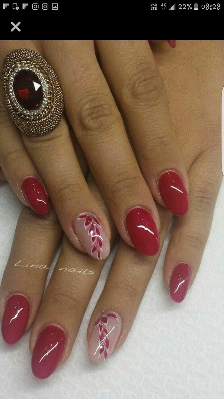 Christmas nails valentines nails | Uñas | Pinterest | Manicure, Nail ...