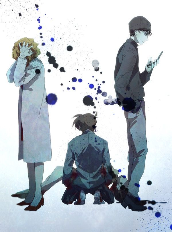 Miyano Shiho, Miyano Akemi, Kudou Shinichi, Akai Shuichi Magic Kaito, Kudo  Shinichi