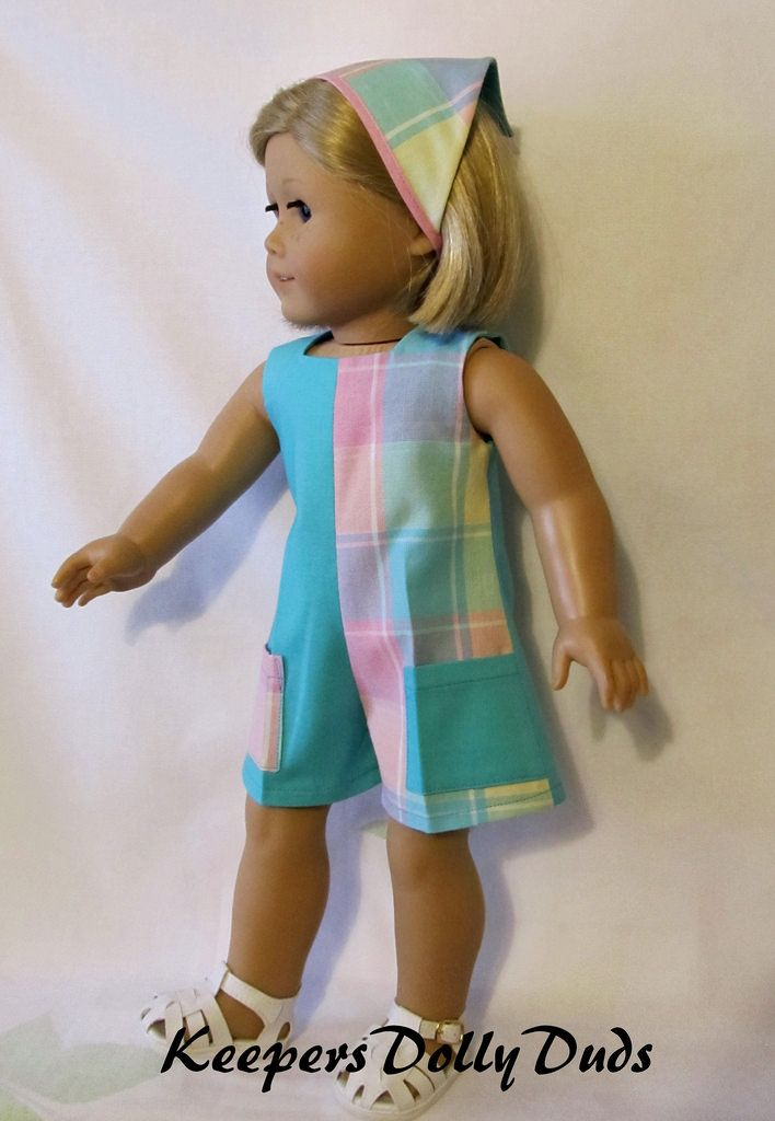1960s Play Suit Made to fit 18 American Girl Dolls- An Original KeepersDollyDuds Design #americandolls
