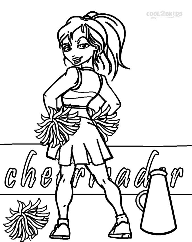 printable cheerleading coloring pages for kids cool2bkids kids