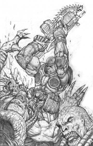 Pin By Popculthq On Penciled Art Gears Of War War Artwork Drawings