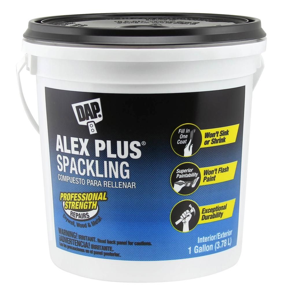 Dap alex plus 128 oz high performance spackling paste 2