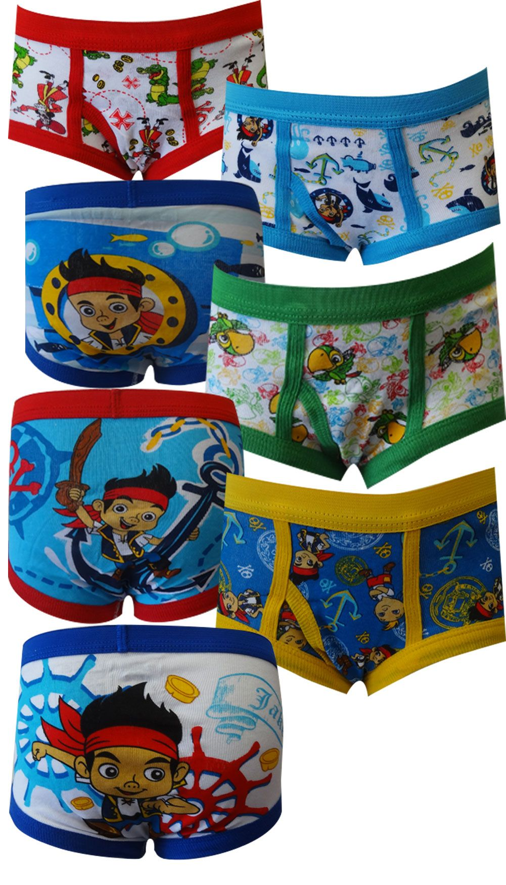 1d1a84abba438 Jake and the Neverland Pirates 7 pack Toddler Boys Briefs Time for a Pirate  Adventure in Crocodile Cove! This 7-pack of boys br.