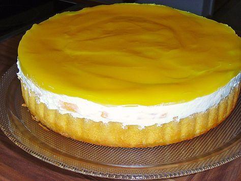 Schnelle Pfirsich - Maracuja - Torte Back - Ideen Pinterest
