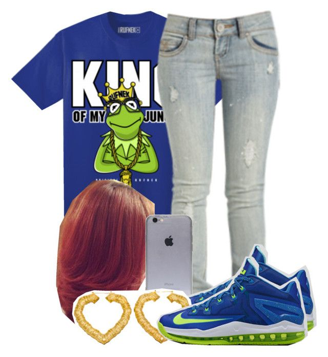 """""""KERMET"""" by destinylove66 ❤ liked on Polyvore featuring Wet Seal and NIKE"""