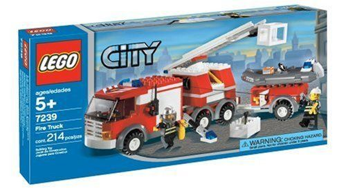 Lego City Fire Truck 7239 673419058049 Build And Drive Your Own